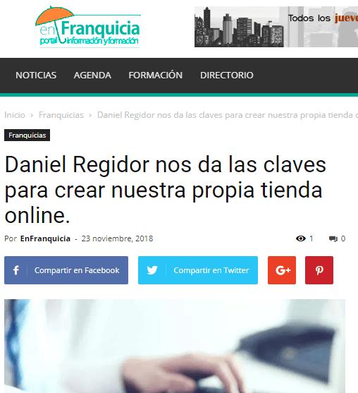 EnFranquicia, portal de formación e información habla del segundo titulo de Daniel Regidor